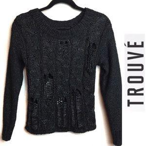 Nordstrom Trouve black sweater